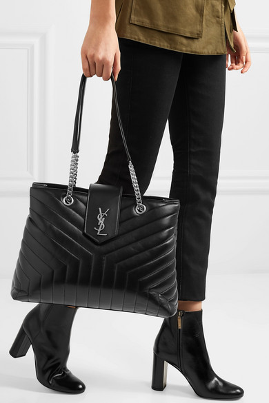 a78e7df585 SAINT LAURENT | Loulou large quilted leather shoulder bag | NET-A ...