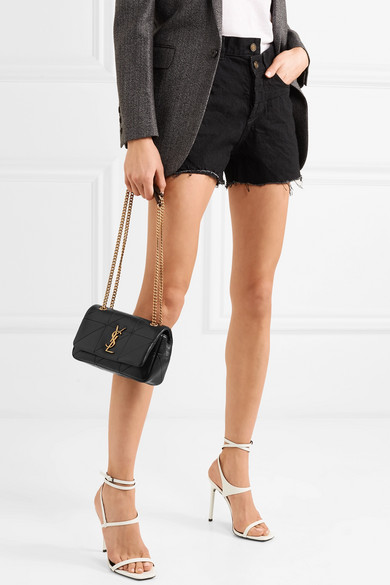 Jamie Small Quilted Leather Shoulder Bag - Black Saint Laurent Eo96HSt