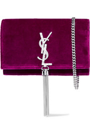 Monogramme Kate small velvet shoulder bag