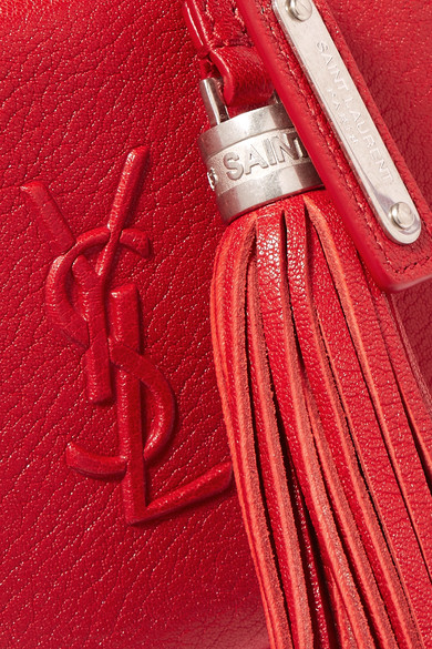 Saint Laurent Monogramme Lou Gürteltasche aus strukturiertem Leder