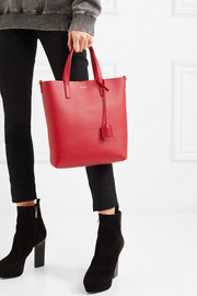Saint Laurent Shopper textured-leather tote