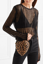 Saint Laurent Love Box leopard-print calf hair shoulder bag