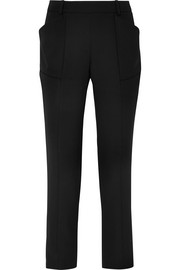 Mugler Wool-crepe slim-leg pants