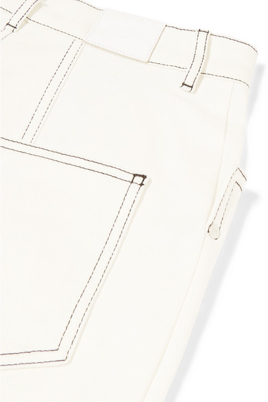 Mugler Verkürzte, hoch sitzende Bootcut-Jeans