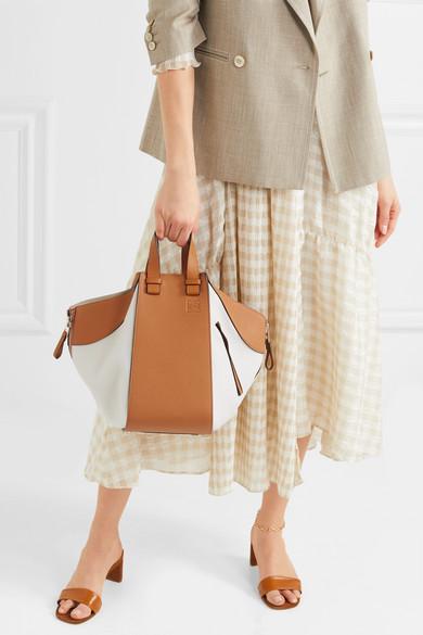 Loewe Hammock zweifarbige Schultertasche aus strukturiertem Leder Echt Günstig Online Günstig Kaufen Visum Zahlung Verkauf Truhe Finish SKMWcO