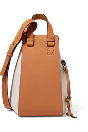 Loewe Hammock two-tone textured-leather shoulder bag