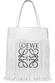 Loewe Fringed printed leather tote