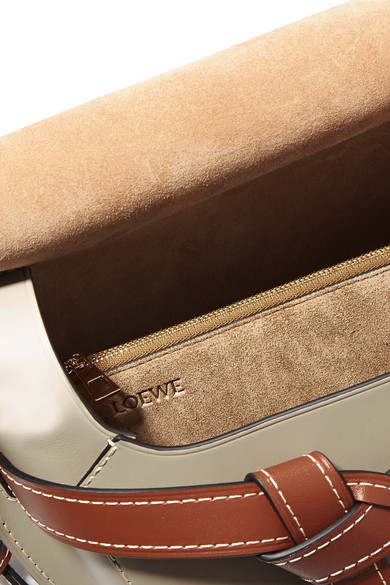 Loewe Gate Schultertasche aus Leder in Colour-Block-Optik