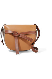 Gate color-block leather shoulder bag