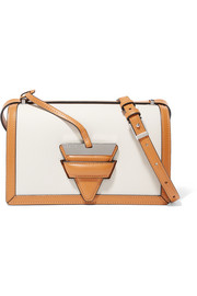 Barcelona textured-leather shoulder bag