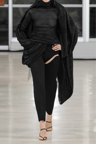 Y/PROJECT Hose mit geradem Bein aus einer Wollmischung mit Cut-outs