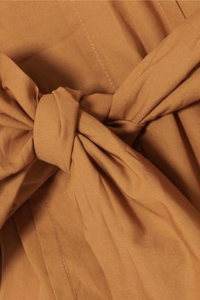 Three Graces London Josephine Maxikleid aus Baumwollpopeline mit Rüschen