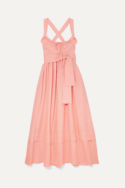 Joan ruffled linen maxi dress