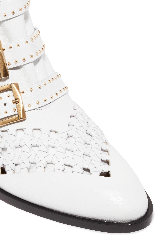 Chloé Susanna cutout studded leather ankle boots