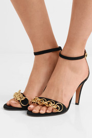 Chloé Reese chain-embellished suede sandals