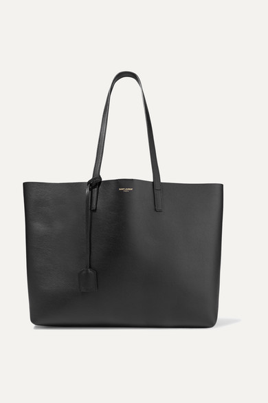 Shopper Large Textured Leather Tote by Saint Laurent