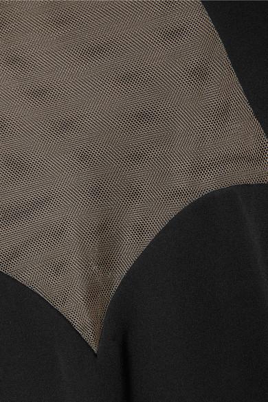 Günstig Kaufen Manchester Großen Verkauf Billig Verkauf Beliebt Versace Robe aus Seiden-Cady mit Tülleinsatz Mit Kreditkarte Zu Verkaufen Top-Qualität Online 8lmPS