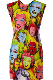 Versace Printed cady mini dress