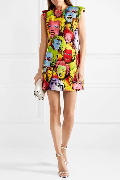 Versace Bedrucktes Minikleid aus Cady