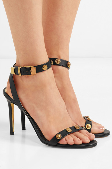 3b7f8405cbc Versace. Embellished leather sandals
