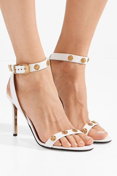 Versace Verzierte Sandalen aus Leder