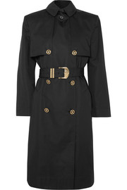 Versace Belted cotton-blend gabardine trench coat