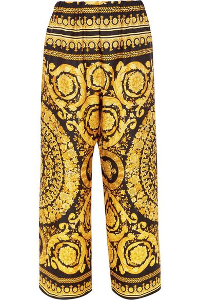 De Large Satin Imprimé En Soie Pantalon tshQdCr