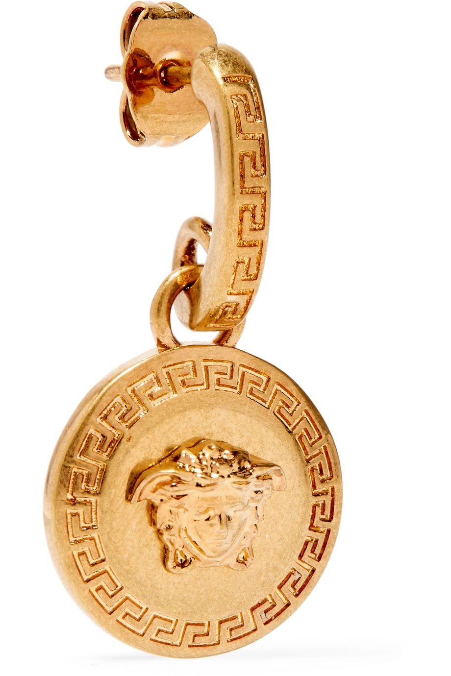 Versace 镀金耳环