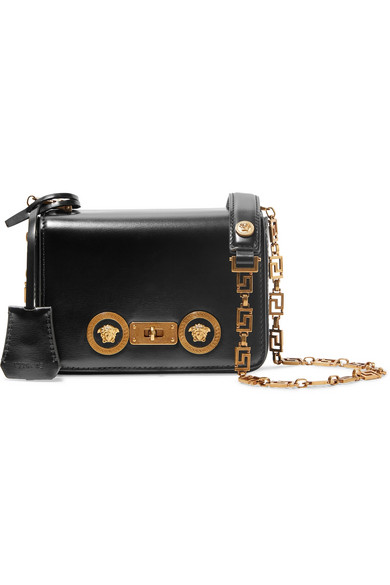 Versace Verzierte Schultertasche aus Leder