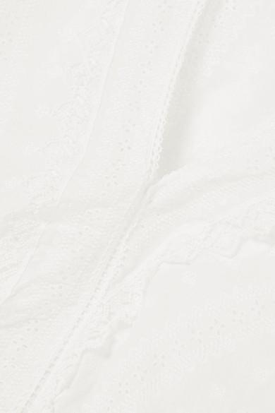 Vanessa Bruno Izest Oberteil aus Baumwolle mit Lochstickerei