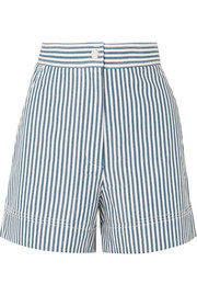 Iparine striped cotton shorts