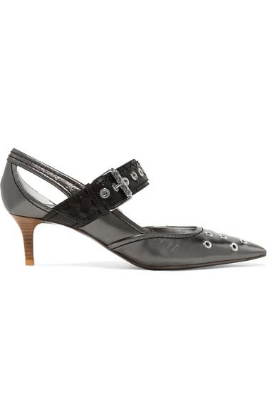 Bottega Veneta | Verzierte mit Pumps aus Metallic-Leder mit Verzierte Cut-outs e32f95