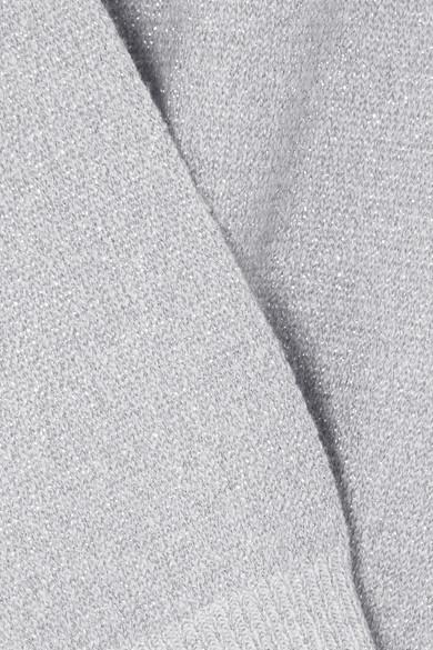 Allude Pullover aus einer Woll-Kaschmirmischung in Metallic-Optik