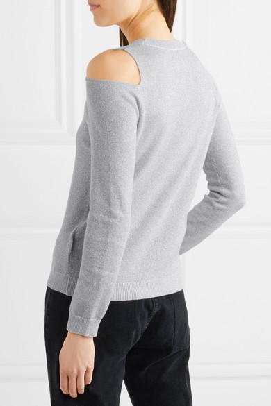 Allude Pullover aus einer Woll-Kaschmirmischung in Metallic-Optik mit Cut-outs