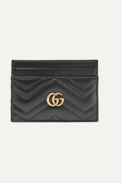 bc6b6e63856f Gucci | GG Marmont quilted leather cardholder | NET-A-PORTER.COM