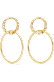 18-karat gold diamond earrings