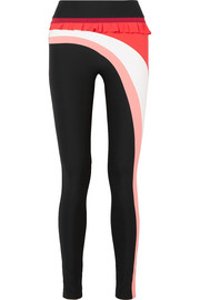 Nalu Kela ruffled striped stretch leggings