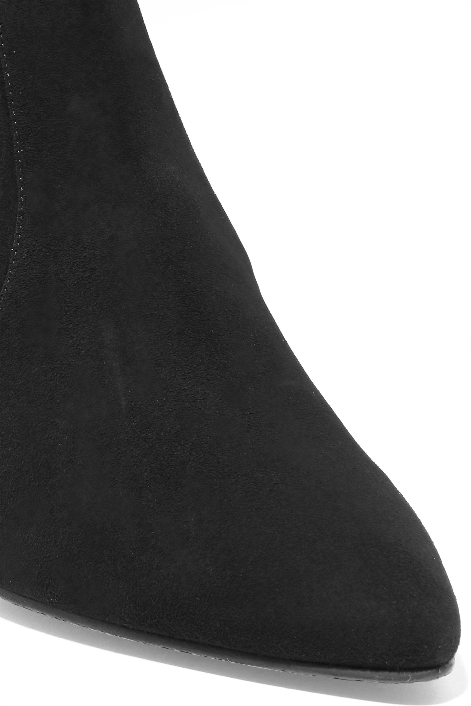 Stuart Weitzman Cling suede sock boots