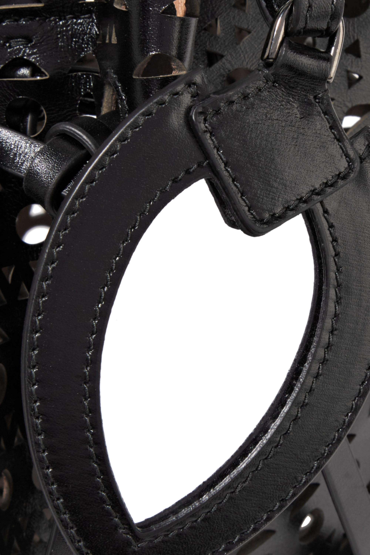 Alaïa Rose Marie laser-cut leather bucket bag