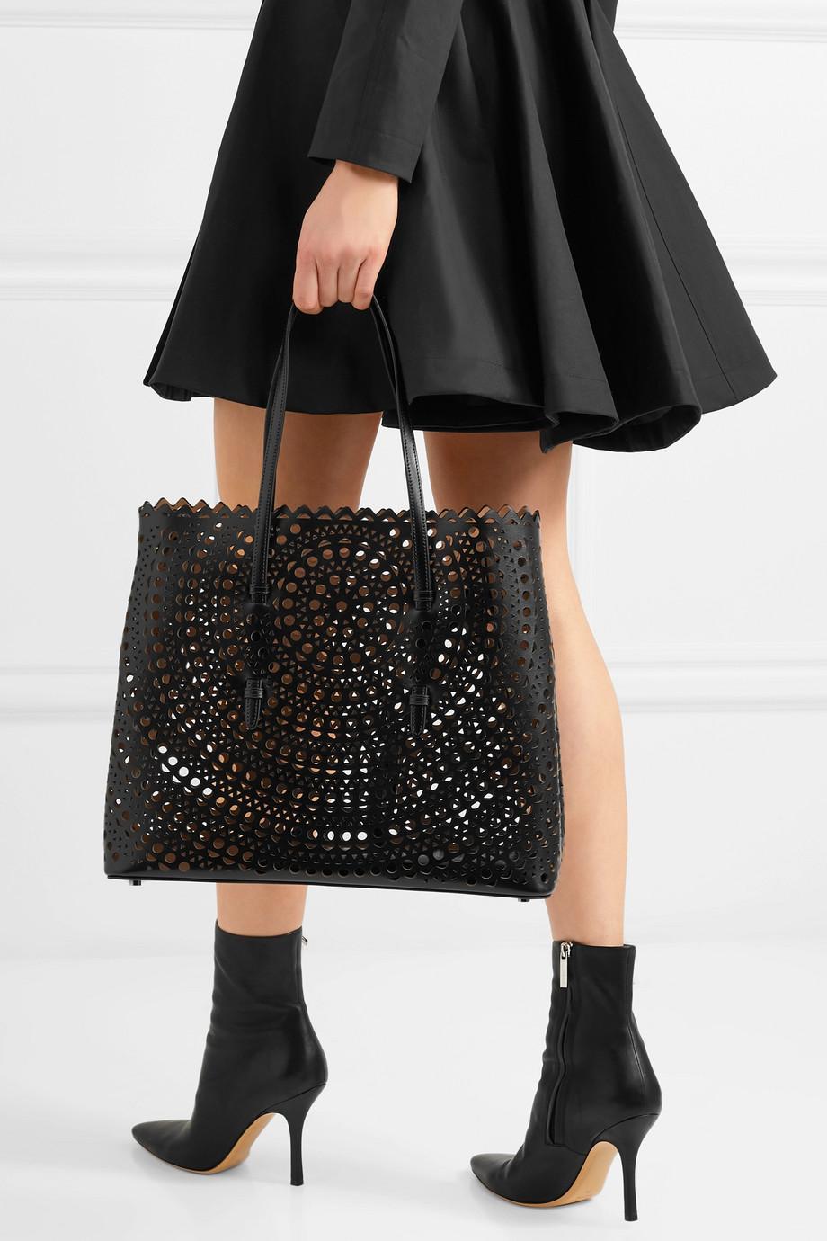 Alaïa Mina 激光雕花皮革手提包