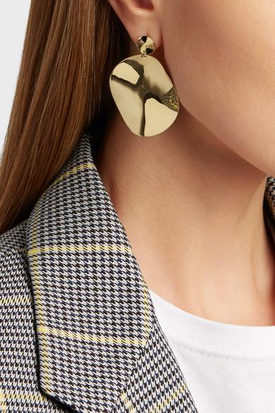 Clico Snowman 18 Karat Gold Earrings