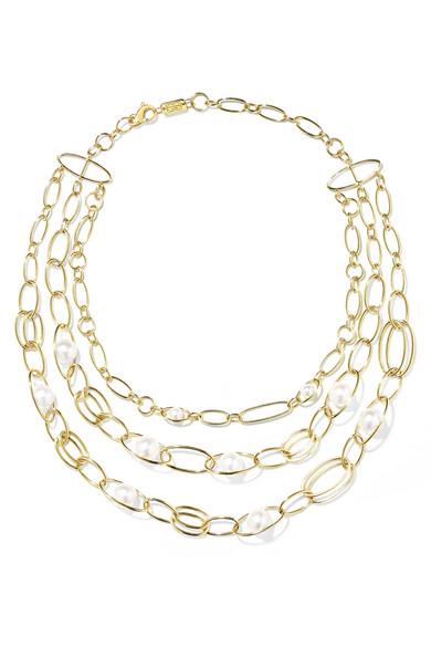 Ippolita Nova 18-karat Gold Pearl Necklace A9pZEicul