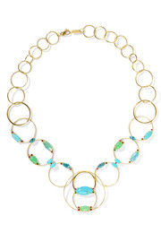 Prisma 18-karat gold multi-stone necklace