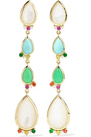 Prisma 18-karat gold multi-stone earrings