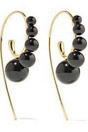 Nova 18-karat gold onyx earrings