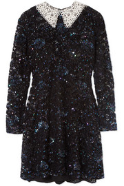 Ashish Wednesday embellished corded lace mini dress