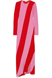Envers striped satin-crepe maxi dress