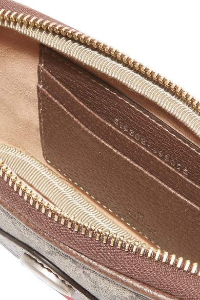 Gucci Ophidia Gürteltasche aus bedrucktem, beschichtetem Canvas mit Besätzen aus strukturiertem Leder