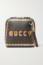 Gucci Printed leather shoulder bag