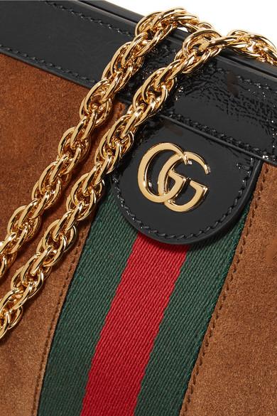 Auslass Eastbay Gucci Ophidia Schultertasche aus Veloursleder mit Lacklederbesatz Billig Freies Verschiffen Visum Zahlung 2018 Online ta8uELpbv